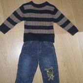 Штанишки джинсы George 6-9-12мес