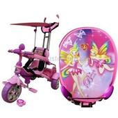 Бесплатная доставка. Велосипед для девочки трехколесный Mars Trike KR01 anime (розовый)