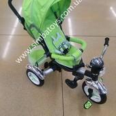 Детский трехколесный велосипед Baby Tricycle, фара муз надувные колеса, все регулируется