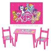 Детский столик с двумя стульчиками 1522, разные мальчикам и девочкам.
