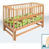 Гойдалка детская кроватка из бука на маятике