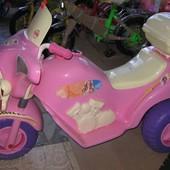 Мотоцикл Я-маха розовый Орион 35-1-0827, для девочки 3лет, есть синий