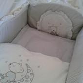 комплект в кроватку \ вышивка \ Мишка