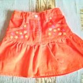 Яркая вельветовая юбка для девочки  на 7 лет (122)
