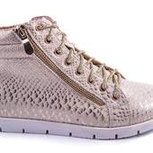 ботинки сникерсы с принтом под рептилию