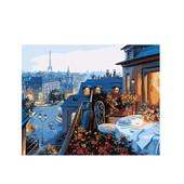 Картина по номерам Роспись на холсте Вид на Париж MG1107 40*50 см