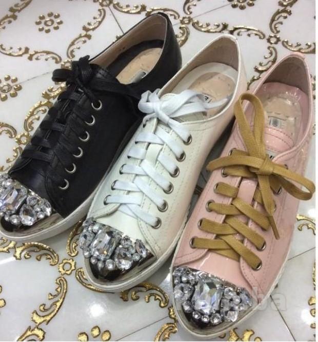 45fe12899227 Туфли с камнями miu miu (миу миу).кожа, цена 1500 грн. купить 884928 ...