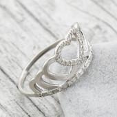 Кольцо серебро 925 пробы Корона 1500