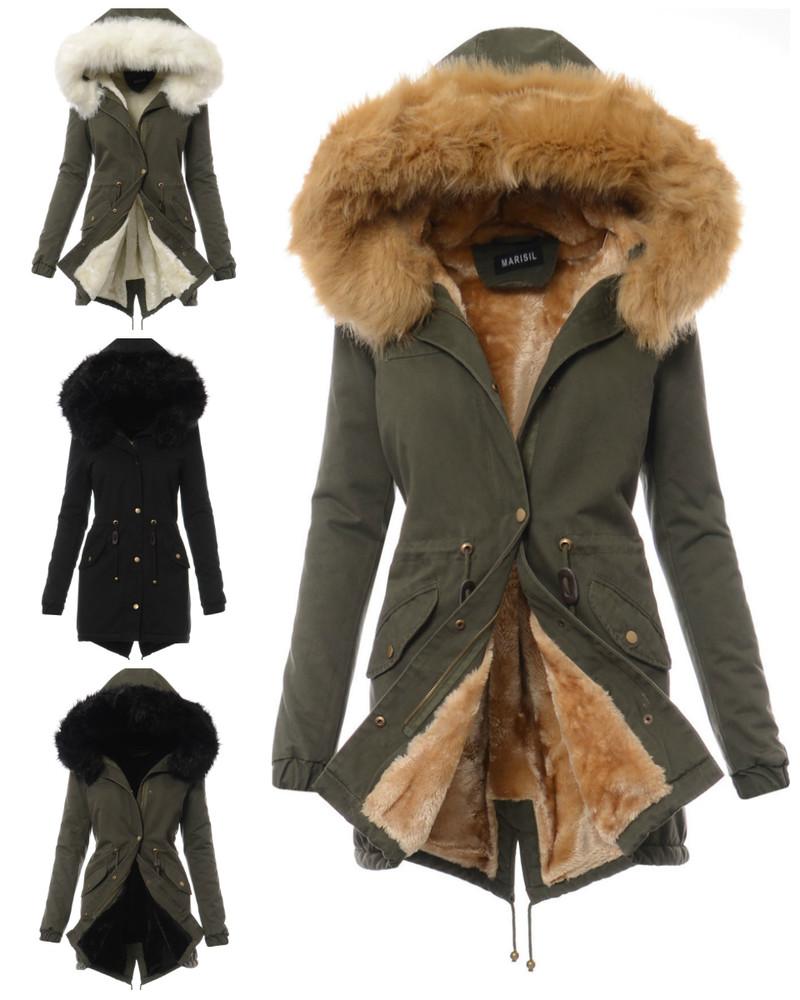 Женская зимняя куртка парка с искусственным мехом, цена 2650 грн ... 2fc621bb3cc