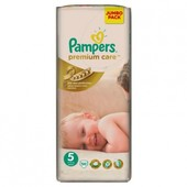 Pampers Premium Care Jumbo 5, 11-25 кг, 56 шт