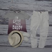 1 - 2 года 86 см Обалденная фирменная натуральная футболка мальчику или девочке