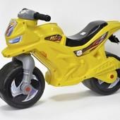 Мотоцикл-каталка от двух лет. Хорошее качество. Цвета разные