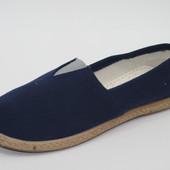 Мужские синие эспадрильи  М 15