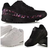 кроссовки женские air max черные и белые