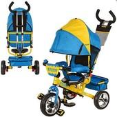 Детский трехколесный велосипед Profi Trike M5363-01 ukr (колеса пена)
