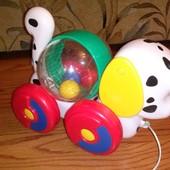 собачка-каталка с мячиком