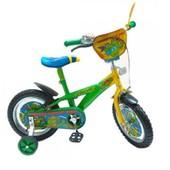 Велосипед Черепашки Ниндзя 2-х колес 12'' 141203 со звонком, зеркалом, с вставками в колесах