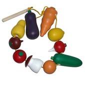 """Шнуровка """"Овощи и фрукты"""""""