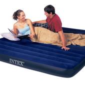 Большой 2-х спальный двухместный надувной матрас Intex 68755 203х183х22см