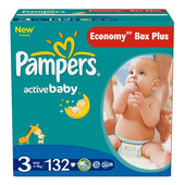 Подгузники Pampers Active Baby 3, 4-9 кг 132 шт
