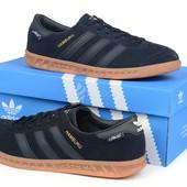 Кроссовки Adidas hamburg Gore-Tex dark blue мужские замшевые темно-синие