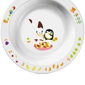 Маленькая глубокая тарелка Philips Avent SCF70600 белая с рисунком,6 мес+