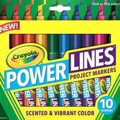 Ароматизированные маркеры 10 цветов crayola scented markers 10 count