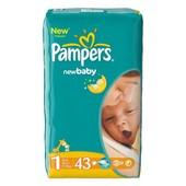 Подгузники Pampers New baby-dry, размер 1  2-5кг 43шт постоянное наличие