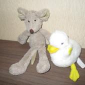 Мягкие игрушки мышонок утёнок