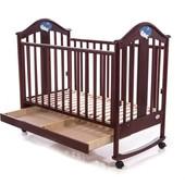 Детская кроватка Baby Care BC-433M орех