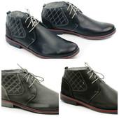 мужские кожаные высокие туфли ботинки на весну-осень