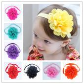 Красивая повязка с цветком на голову для девочки