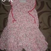 Тоненьке платье плаття Early days на 3 - 6 місяців. ріст 68 см