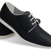 Туфли черного цвета из натуральной кожи