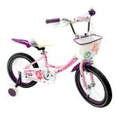 Азимут Ангел 20 велосипед Azimut Angel для девочки с корзинкой