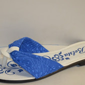 Вьетнамки женские голубые Б497 р.36,39