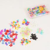Набор аксессуаров Rainbow loom bands для плетения браслетов шармики бусинки кубики кольца клипсы