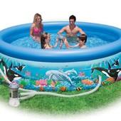 Надувной бассейн intex 28124 (54900) бассейн 305*76см без. очистителя