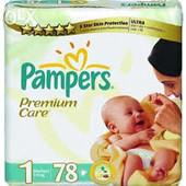 Pampers Premium Care 1, 78 шт. памперсы Украина, Киев, оптом, фото