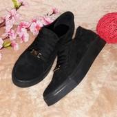 Черные замшевые кроссы PP