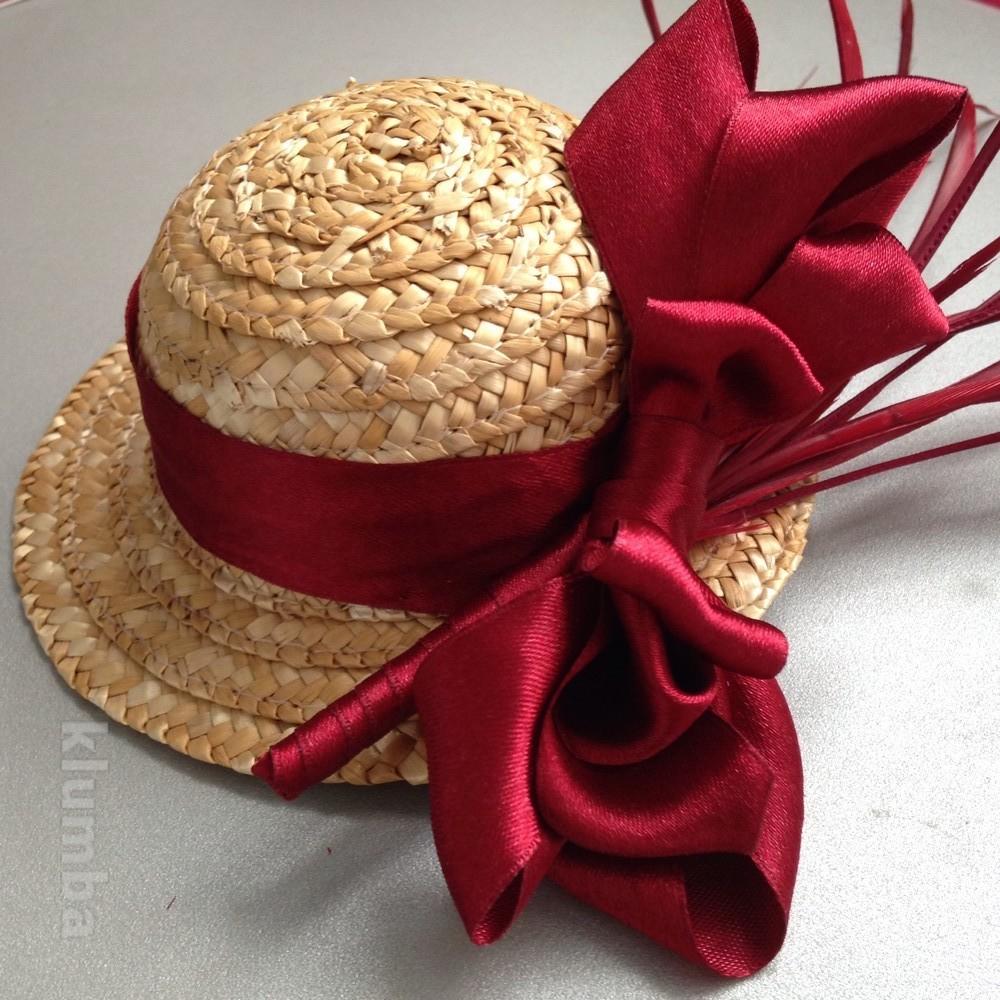 Шляпка аксессуар соломенная фото №1