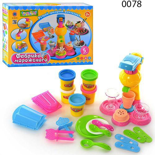 Тесто для лепки 0078 0694 фабрика мороженого набор волшебный пластилин 0078   play doh плей фото №1