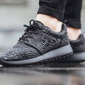 Кроссовки Nike Roshe Run Flyknit Midnight fog, р. 40-45, код vm-249