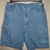 Шорты джинсовые 42р.(НАШ 48)(пояс84-90см)