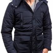 Мужская зимняя куртка La Energy в стиле парка-синяя,черная,графит!