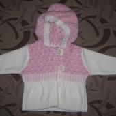 Светер (свитер, кофта) Sugar Pink 3 - 6 місяців. ріст 68 см