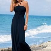 Трикотажное макси-платье с драпировкой, сарафан