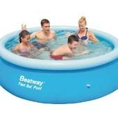 Надувной бассейн BestWay 57008 Размер 244x66см. Объем 2300л.