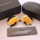 Женские солнцезащитные очки Victoria Beckham classic aviator vb 01 g   акция