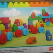 Mega Bloks учебный поезд, dkx 60  набор конструктора